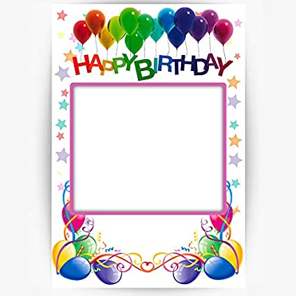 f923c573b8ac Amazon.com  Happy Birthday Selfie Frame Photo Booth and Picture ...