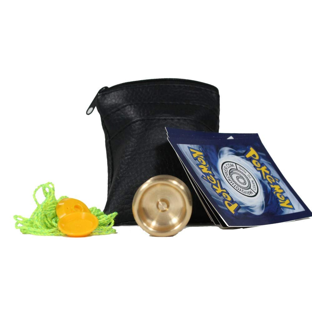 Rain City Skills Loonie Yo-Yo 2nd Edition - Brass Micro YoYo with Extras! (Brass) by Rain City Throws
