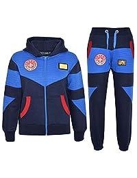 6892306ea22cf5 Kids Tracksuit Boys Deluxe Edition Badged Hoodie Bottom Jogging Suit 7-13  Years