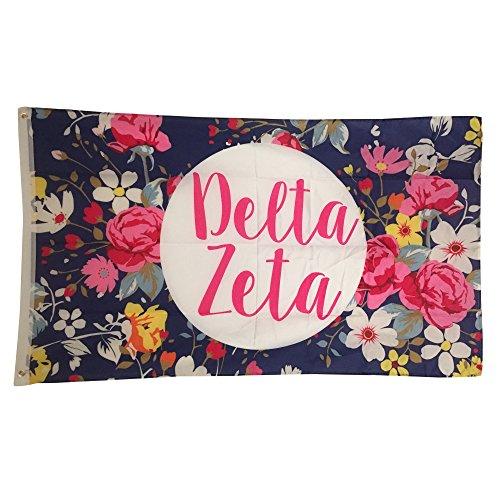 delta-zeta-sorority-pink-font-floral-3-x-5-flag