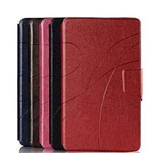 ZCL- Caballo corrugado Edge en estuche de cuero con ranura para tarjeta para Galaxy Tab Pro8.4 T320 (colores surtidos) , Marrón Oscuro