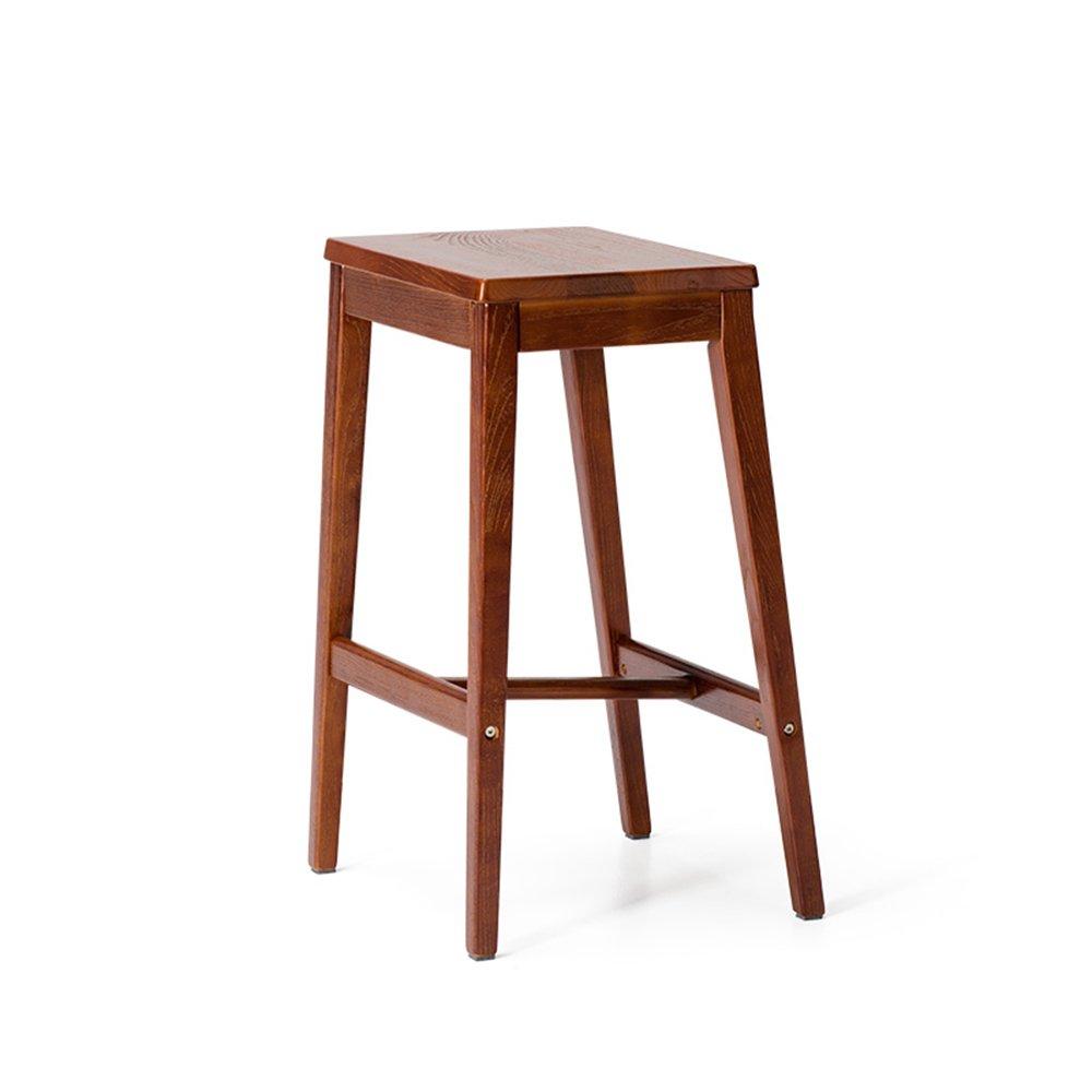 Solid wood bar stool / retro side stool / cafe high stool / bar stool ( Color : B , Size : 413966CM )
