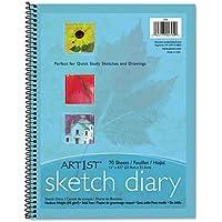 PACON Art 1st Sketch Diary, 11 x 8 1/2, 60 lb, 70 Sheets, White