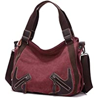 AutumnFall Women Fashion Handbag Shoulder Bag Large Tote Ladies Purse (Wine)
