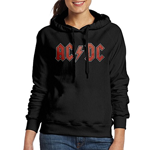 Women's Acdc Band Flag Hoodies Black