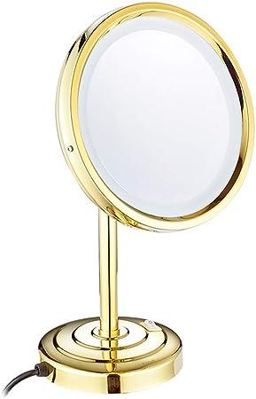 Miroir Grossissant Cuivre Led Lumiere Miroir Salle De Bain Beaute