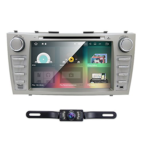 Android 7.1 Quad Core Car DVD Player For Toyota Camry 2007 - 2011 Aurion 2006 - 2011 8 Inch Screen GPS Navi BT Radio RDS DTV USB Android/iPhone Mirrorlink SWC Rearview camera USA Map by HIZPO