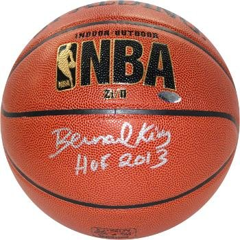 phed Basketball - Indoor Outdoor Spalding TB HOF 2013 Hologram Silver sig - Steiner Sports Certified (Bernard King Autographed Basketball)