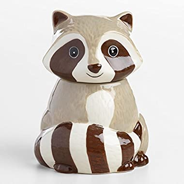 Ceramic Raccoon Sugar Bowl
