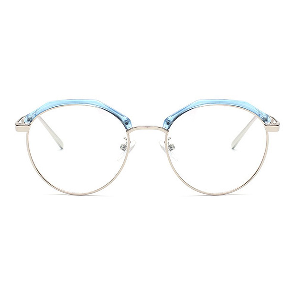 Marco poligonal con estilo redondo gafas gafas de unisex sol semi ...