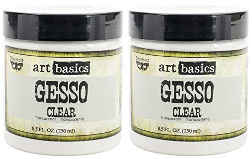 2-Pack - Prima Marketing Art Basics Gesso, 8.5-Ounce each, Clear (Best Gesso For Art Journaling)