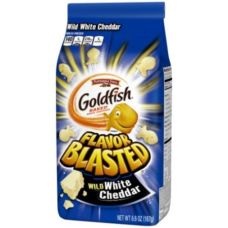 Pepperidge Farms Goldfish New Flavor Blasted Baked Snack Crackers 6.6oz (White Cheddar)