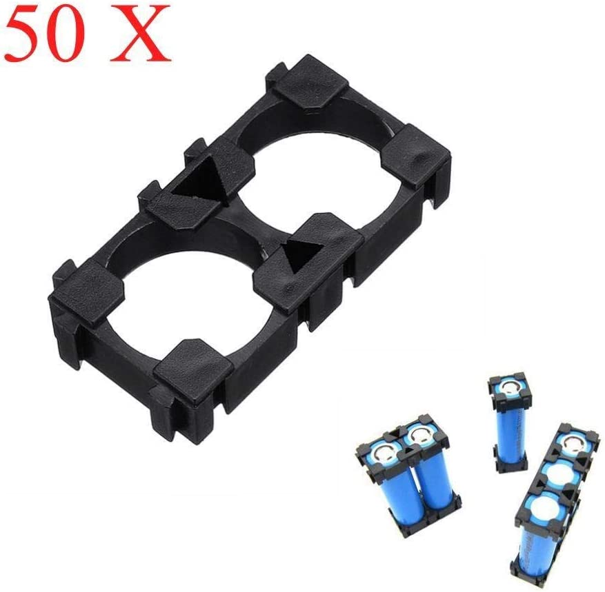 50pcs 2 Series 18650 Lithium Battery Support Combination Fixed Bracket with Bayonet Power Module