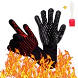 U-picks BBQ Grill Gloves 1472℉Extreme High Heat Resistant, Fireproof...