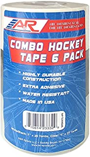 A&R Sports Combo Hockey Tape, Black, White & Clear