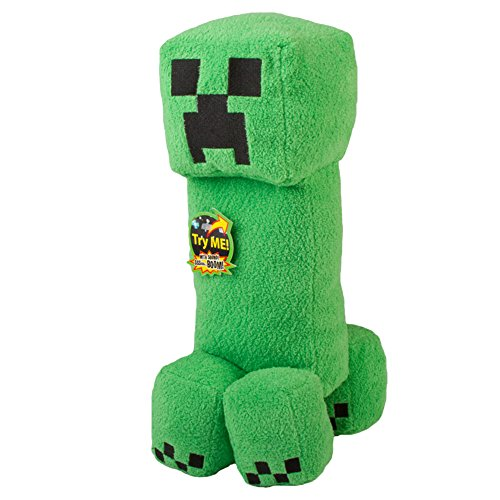 Mojang Official Minecraft Creeper Plush with Sound by Jinx, 14″ Large image