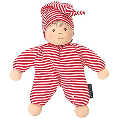 Sterntaler 3015034 Soft Doll Heiko, Integrated Rattle, Age: for Babies from Birth, 23 cm, Red/White: Toys & Games