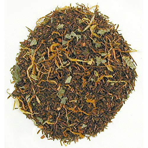 English Tea Store Loose Leaf, Georgia Peach Rooibos Caffeine Free Tea Pouches, 4 Ounce ()