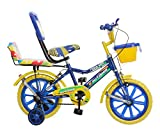Splash From Outdoor Bikes 14 Inches Bicycle For 3 To 5 Year Kids With Double Seat (Blue Yellow)