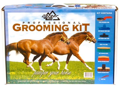 - Decker Manufacturing GS2000 8-Piece Grip-Fit Horse Grooming Set