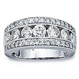 Diamond Wedding Band in 14K White Gold (1.00 carats, H-I I1)