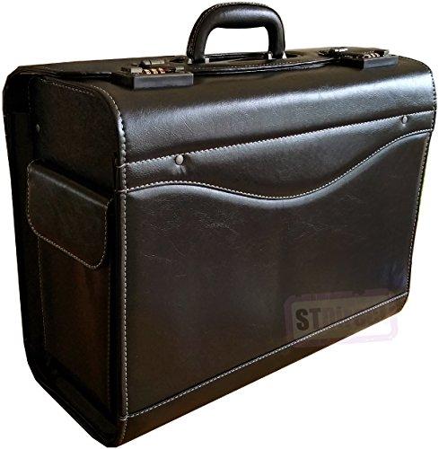Professionelle große Kunstleder Pilotenkoffer Expanding verschließbare Concertina Tasche Aktentasche Tasche