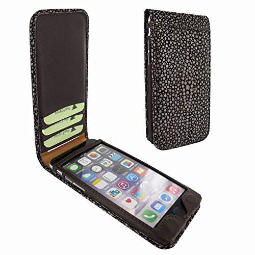 Piel Frama 761 Brown Stingray Classic Magnetic Leather Case for Apple iPhone 7 / 8 by Piel Frama