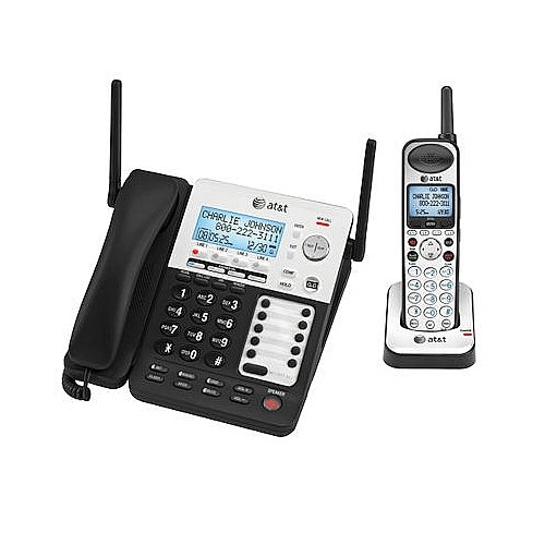 AT&T 4-Line SynJ Corded Cordless Small Business System with Extended Range and Automated ()