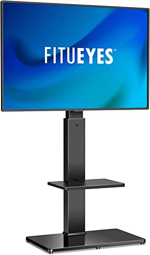 FITUEYES Swivel Floor TV Stand