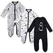 OPAWO Baby Boys' Footed Sleeper Pajamas 3 Pack 0-3 Months