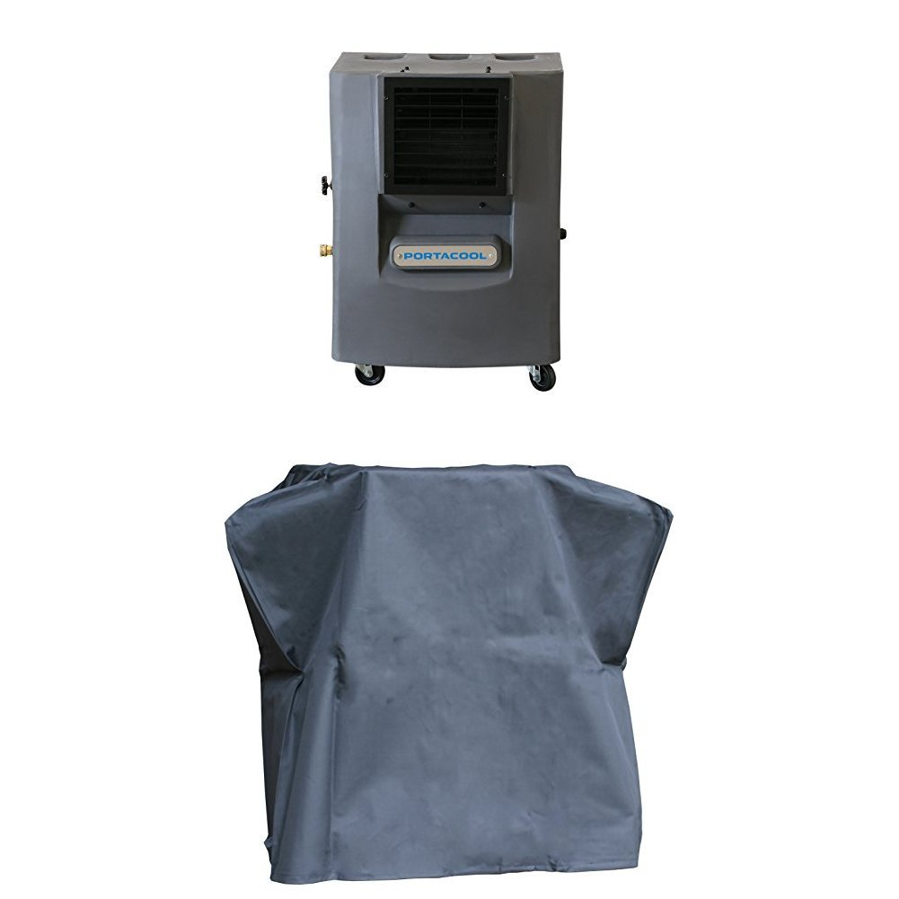 Portacool PACCY120GA1 Cyclone 120 Portable Evaporative Cooler with vinyl cover