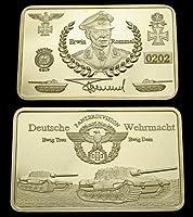Deutsches Reich Wehrmacht Erwin Rommel Weltkrieg 1914 Gold 1 Oz Barren 999...