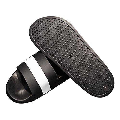 Indoor Slip Fendou Home Shower House Shoes Women Slide Slippers Sandal for B Sandals Bath Soft whiteblack Anti qpXxzFpTrw
