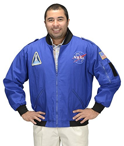Aeromax Adult NASA Astronaut Flight Jacket, X-Large, Blue