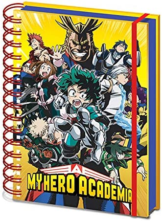 Radial Character Burst My Hero Academia Notizbuch A5 mit Spiralbindung