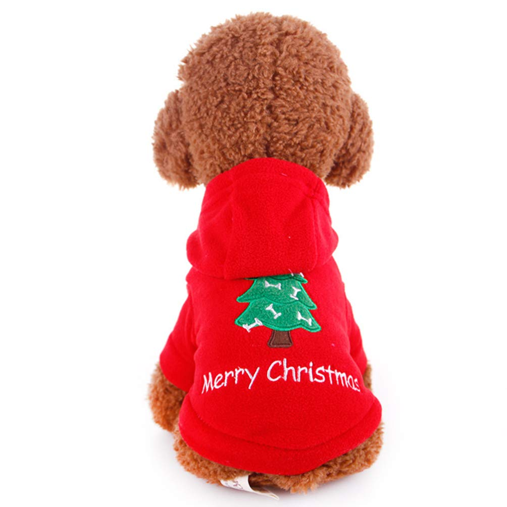 Balacoo Dog Christmas Apparel Hoodie Clothes Puppy Warm Hoodie Xmas Costume Pet Supplies Size M