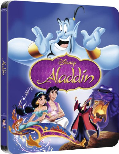 Aladdin Limited Edition Exclusive Steelbook [Blu-ray |Only 5000 Made] NEW (Aladdin Jasmin)
