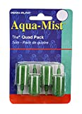 Penn Plax AS6Q 4-Pack Aqua Mist Air Stone Cylinder Aerator for Fish Tank