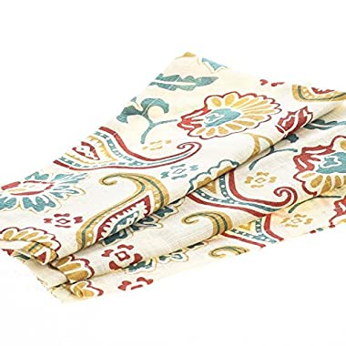 Collection of 12 Square Mod Style Paisley Cafe Cloth Napkins for Dinner Parties, Decorating and Everyday Use