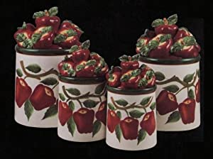 apple canisters for the kitchen apple 3 d canisters set of 4 new canister 22909
