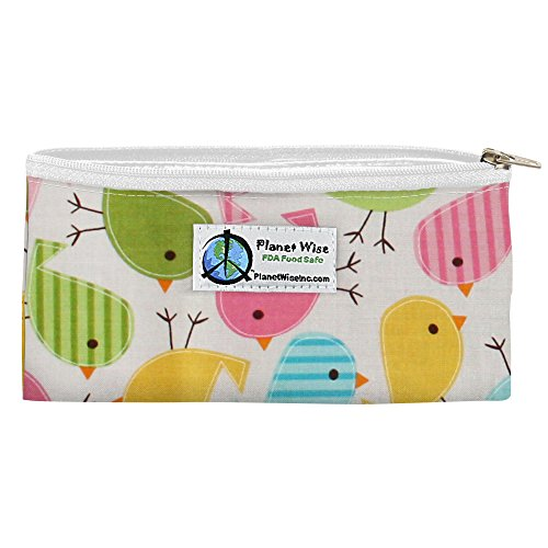 Planet Wise Reusable Zipper Sandwich and Snack Bags, Snack, Chick-A-Dees