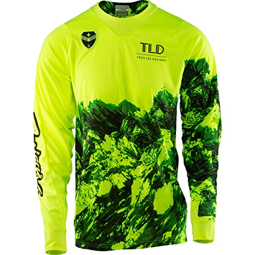 2017 Troy Lee Designs SE Gravity Jersey-Flo Yellow-M ()