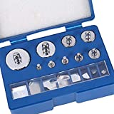 17Pcs Precision Steel Calibration Weight Kit Set