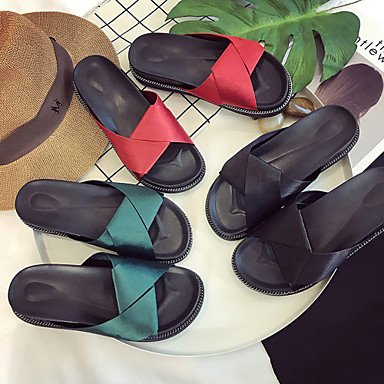 Fabric 1In Summer Dress Women'S Sandals UK4 US6 5 Casual Creepers 3 4In CN37 Creepers Green Black Outdoor Walking 5 7 1 5 Red RTRY EU37 qAxtOFwF