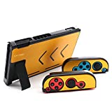 Nintendo Switch Aluminum Alloy Protective Case - Anti-scratch Dustproof Metal Shockproof Protective Cover Shells For Nintendo Switch Console And Joy-Con Controller NS (Yellow)
