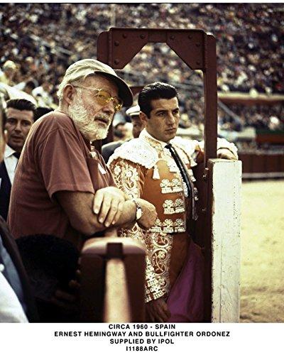 Full Bleed Photo - Globe Photos ArtPrints Ernest Hemingway At A Bull Fight - 8