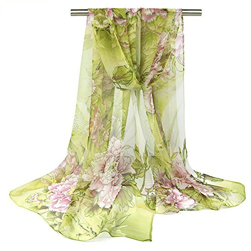 ChikaMika Floral Silk Scarves for Women Fashion Floral Scarf Top Quality Lightweight scarves