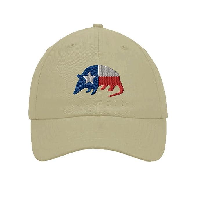Amazon.com  Speedy Pros Armadillo Texas Flag Embroidery Twill Cotton ... bf01bb717ab