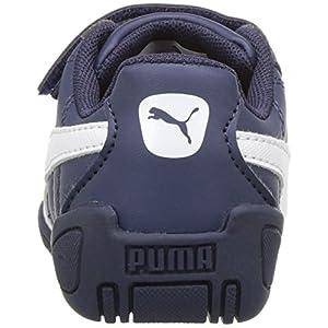 PUMA Baby Tune Cat 3 Velcro Kids Sneaker, Peacoat White, 10 M US Toddler
