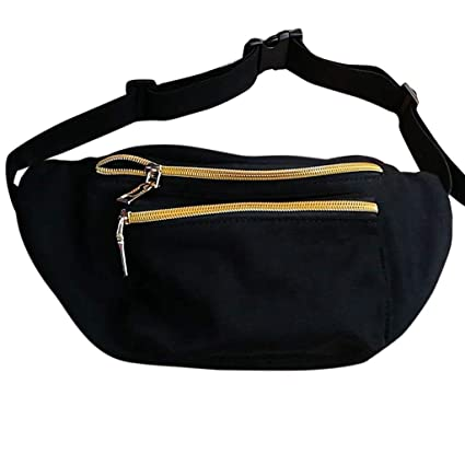 b79dd437f637 Cute Fanny Pack Black and Gold Waist Pack For Women Men Fun Styles Festival  Raves Fashion Belt Multiple Sizes Waterproof Hip Pack from Who's Your ...